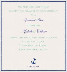 Anchor Drop - Wedding cards