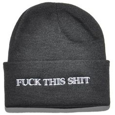 kream Fuck This Beanie ($22) ❤ liked on Polyvore featuring accessories, hats, beanie and beanie hats