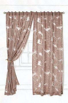 Pretty mocha-colored curtains