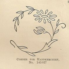 embroidery pattern 10/1914 home needlework flower
