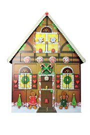 Gingerbread Cookie and Candy House Wooden Christmas Advent Calendar