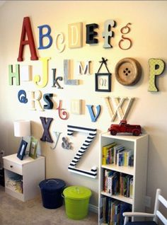 Great wall decoration for a nursery.