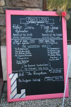 Maybe do a schedule of the weekend on a cute chalkboard in a common place?