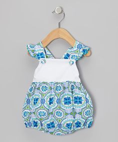 Take a look at this Blue Bali Ruffle Bubble Bodysuit - Infant & Toddler by Stellybelly on #zulily today!