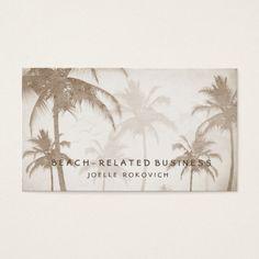 206 best tour guide business cards images on pinterest tour guide lyrical vintage sepia tropical palm trees birds business card colourmoves
