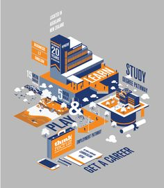 Isometric Illustration made for NZIE (New Zealand Institute of Education).