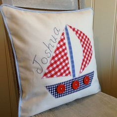 applique boat cushion by my poppet petite | notonthehighstreet.com