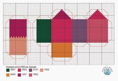 Miniature house for Christmas Tree - cross stitch chart