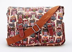 NEW TODAY! PINK – Multi Owl Print Satchel For £18.99! – SO PRETTY! YOU DESERVE ONE