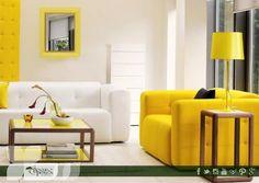 El amarillo es color que brinda alegría, por lo que es ideal para los puntos de reunión familiar y el cuarto de los pequeños.  ¡Atrévete a usarlo!