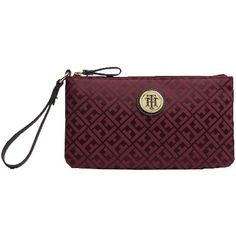 Bordeauxrote Clutch von Tommy Hilfiger 35,00 € ♥ Hier kaufen: http://www.stylefruits.de/clutch-mit-muster-tommy-hilfiger/p4786678