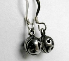 Silver Ball Earrings - Vintage Sterling 925 by ReTainReUse on Etsy