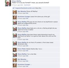This Drarry conversation made me sick. I wanna gag. (Don't criticize me, Drarry shippers)