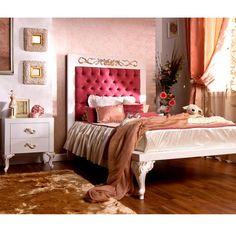 Florence Rose Upholstered Bed from PoshTots