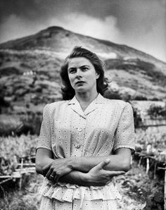 by Gordon Parks: Actress Ingrid Bergman, during the filming of the movie ;. Italy, May 1949