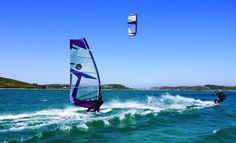 Kite surfing on the Isles of Scilly