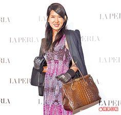 王雅麗出席La Perla 2015春夏系列新品發表秀。朱世閎攝