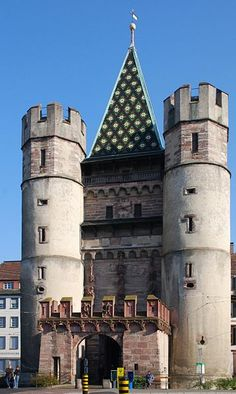 Spalentor, 600 years old city gate, Basel