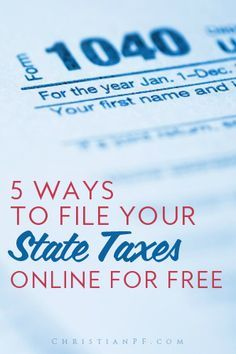 5 free ways to file your STATE taxes for FREE. It is pretty easy to find a free FEDERAL option, but filing state taxes for free can be tough to find.