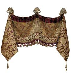 Dekorative Volant und Jabots (in allen unseren Stoffen erhältlich) - Bargains. Tuscan Curtains, Modern Curtains, Modern Bedding, Colorful Curtains, Tuscan Design, Tuscan Style, Rideaux Design, Mediterranean Home Decor, Custom Drapes