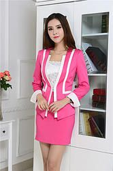 Plus Size Women Business Skirt Suits - Pink Business Outfits, Business Attire, Business Women, Business Clothes, Suits For Women, Clothes For Women, Party Frocks, Fashion Clothes Online, Work Looks