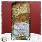 Tammy Tutterow Tuesday Tutorial: Tissue Wrap Collage Tag...could be used on a card, or journal page as well.