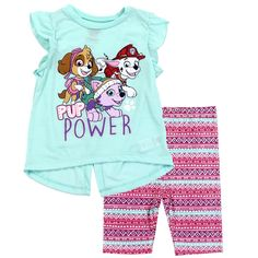 Toddler Girl Bike, Paw Patrol, Kids Wear, Night Gown, Little Girls, Style Inspiration, Shorts, Cotton, Dog Bones