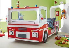 Kinderbett junge bus  Blauer Bus als Kinderbett. | kinderbedden | Pinterest ...