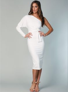 cb407f8c8a A gorgeous one shoulder midi dress by Pasduchas. Exclusive to White Runway