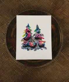 Sisters. Trees Watercolor Print. Pacific Northwest by SaylorMade