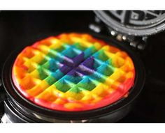 Rainbow Waffles #Food #Rainbow #DIY http://www.trendhunter.com
