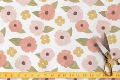 Fine Florals Fabric by Hooray Creative at minted.com