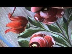Bauernmalerei Tulips - Decorative Painting & Folk Art Lesson - YouTube