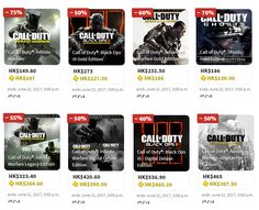 COD Infinite Warfare has the deepest discount I've ever seen for a current year COD game deeper than its predecessors (ongoing PSN Hong Kong Store sale)