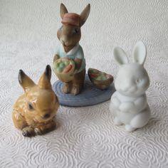 Goebel Bunny Rabbit Hallmark Three Ceramic by stonebridgeworks