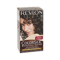 Revlon ColorSilk Hair Color - Dark Brown this looks really close to what i have now, but with curls. i'd love to have a curling iron and know what i'm doing with the stupid thing Revlon Colorsilk, Hair Color Brands, Organic Hair Color, Permanent Hair Color, Hair Color Dark, Tan Skin, Best Anti Aging, Face Hair, How To Make Hair