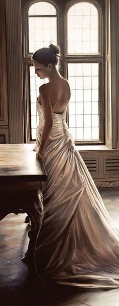 A collection of beautiful images from the internet - primarily fashion, travel, architecture and photo art. With a background in photography and graphic arts, I love to be visually inspired. I hope. Bridal Gowns, Wedding Gowns, Wedding Cakes, She's A Lady, French Wedding, Parisian Wedding, Glamour, Gowns Of Elegance, Slice Of Life