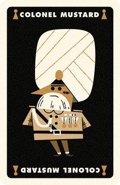 Clue Card Mustard, Andrew Kolb