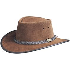 f5a5d0c1 BC Hats Hat n the Pouch Suede Australian Leather Hat Leather Hats, Suede  Leather,