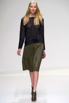"Stefanel Runway #MFW plisse skirts will still be ""in"""