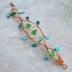Elven Woodland Fairy Vine Bracelet or Arm Cuff by Thyme2dream,