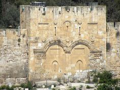 "The ""Golden Gate"" [aka the Eastern Gate] in the eastern wall of Jerusalem's Temple Mount."