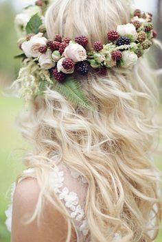 berry  flower crown