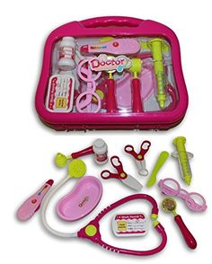 Pink Kids Doctor's Bag Nurse Medical Kit Playset for Kids Pretend Play >>> This is an Amazon Affiliate link. Click image for more details.