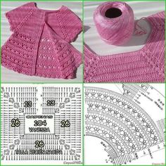 Discover thousands of images about Irish lace, crochet, crochet patterns, clothing and decorations for the house, crocheted. IG ~ ~ crochet yoke for girl's dress ~ pattern diagram Elegant dresses + crochet skirt of tulle. Pull Crochet, Crochet Yoke, Crochet Fabric, Crochet Cardigan Pattern, Crochet Diagram, Crochet Blouse, Irish Crochet, Crochet Stitches, Baby Girl Crochet