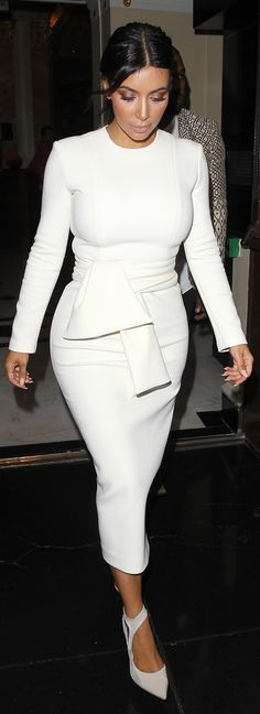 Is it possible for Kim Kardashian to be TOO covered up?!