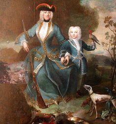Portrait of Eleonore of Schwarzenberg with her son Joseph in 1727 by Maximilian Hannel