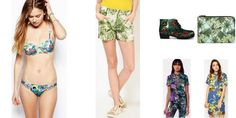 """""""Tropical Forest"""" Awesome list on #shorts #clutches by @pnksng #fashion"""