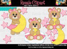 Lil Angel Bear Girls 1 Clipart Digital Zip Download by MaddieZee