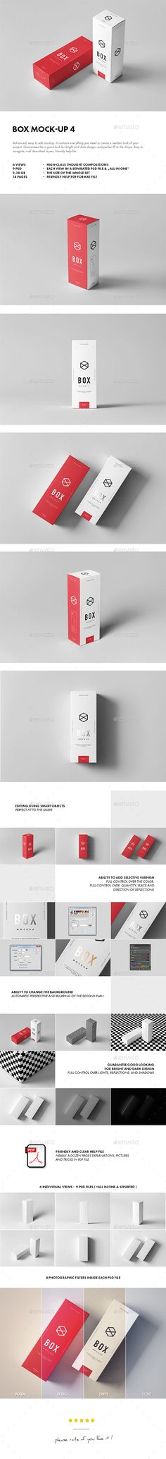 Box Mock-up Design Template 4 - Miscellaneous Packaging Mock Up Design Template PSD. Download here: https://graphicriver.net/item/box-mockup-4/19179366?ref=yinkira